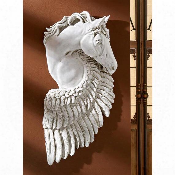 "Wings Of Fury"" Pegasus Horse Wall Sculpture"