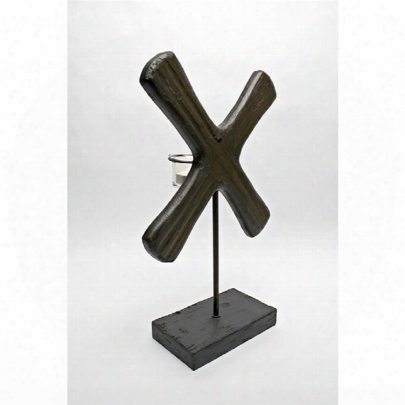"X Form 15"" Candleholder Scuulpture"