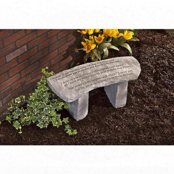 Your Memory Is My Keepsake: Cast Stone Memorial Garden Bench