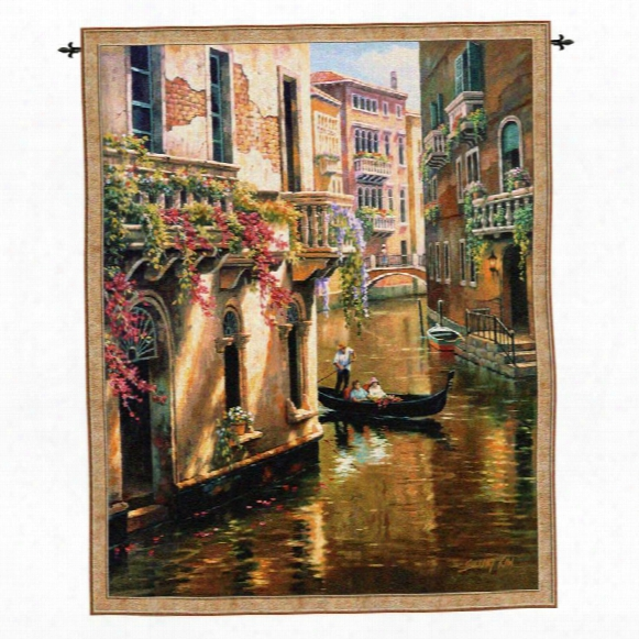 Afternoon Chat Landscape Wall Tapestry