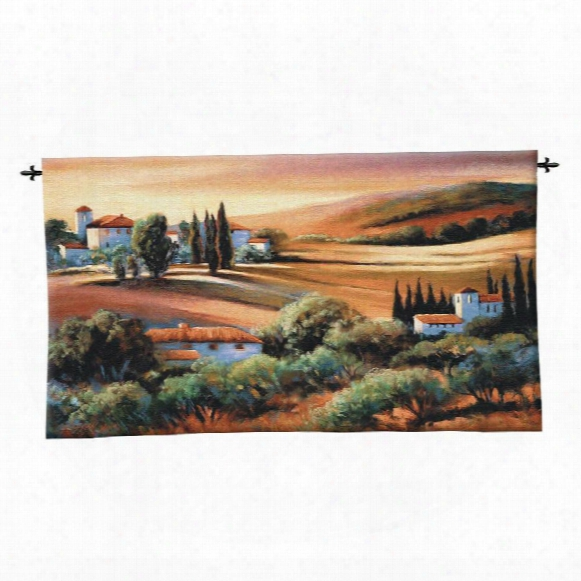 Afternoon Light In Tuscany Landscape Wall Tapestry