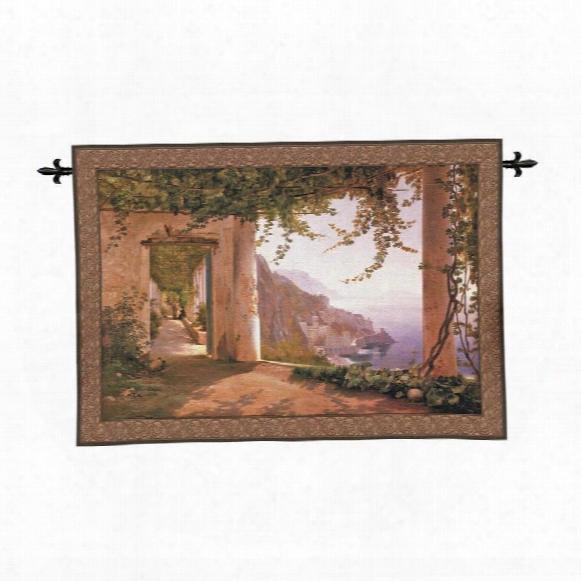 Amalfi Dai Cappuccini Landscape Wall Tapestry: Large