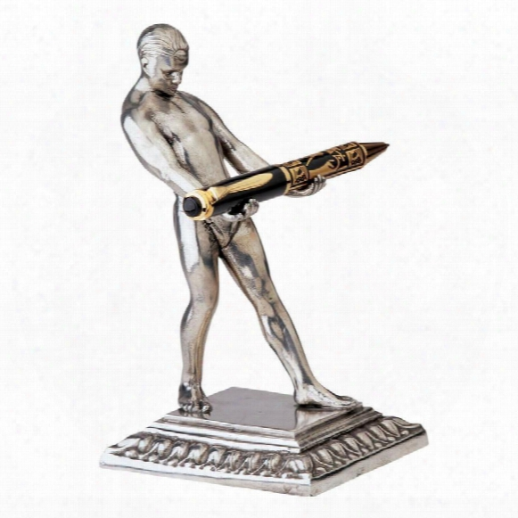 Ar Tdeco Strongman Pen Holder Sculpture