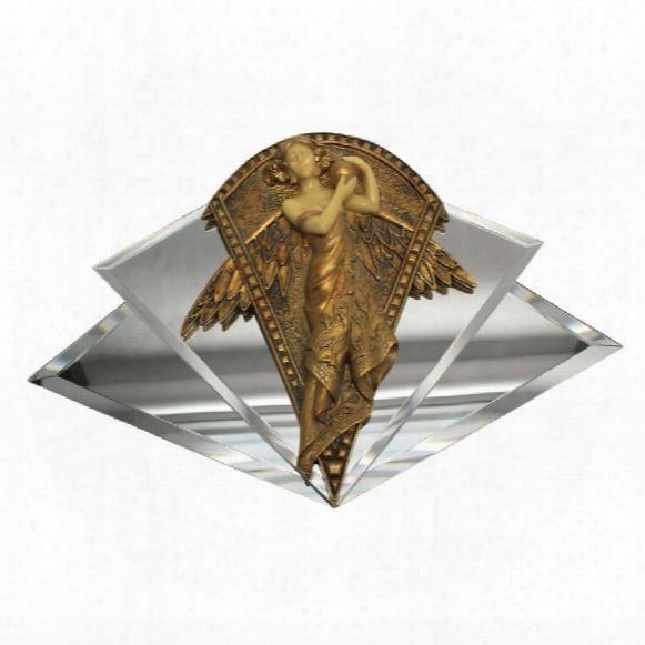 """Art Nouveau Angel"""" Mirrored Wall Sculpture"""
