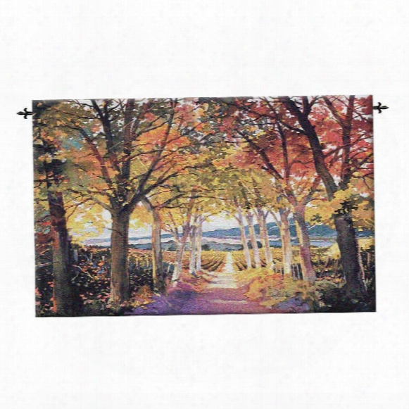 Autumn Path Landscape Wall Tapestry