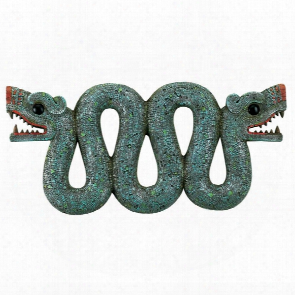 Aztec Double-headed Serpent Wall Sculpture
