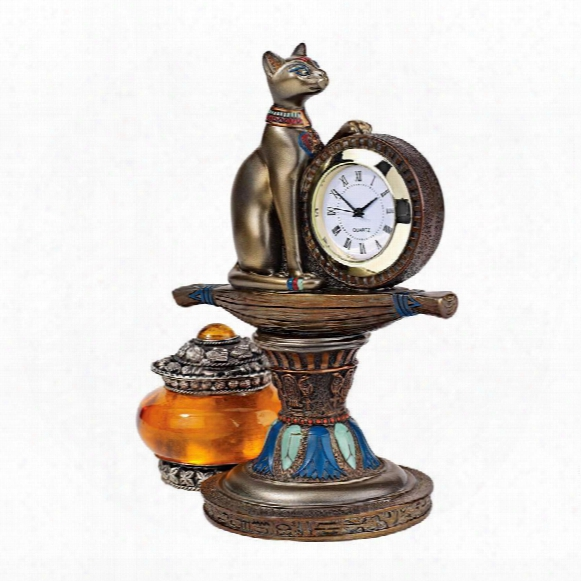 Bastet's Egyptian Altar Timepiece