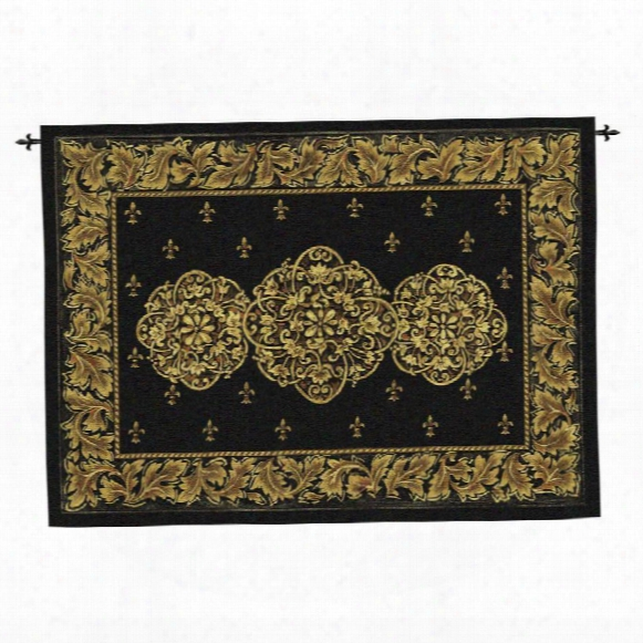 Black Medallion Wall Tapestry