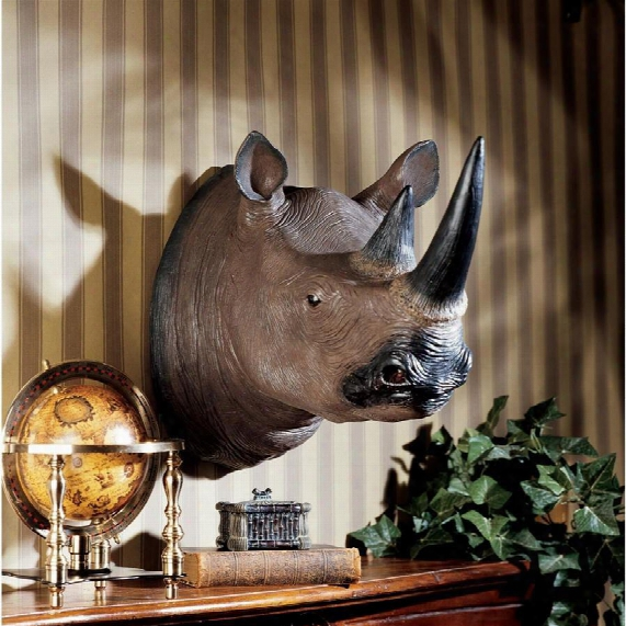 Black Rhinoceros Wall Trophy