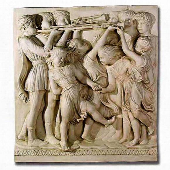 Blast Of The Horns Cantoria Religious Sculptural Wall Frieze