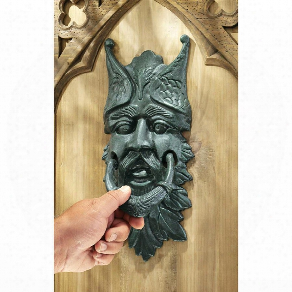 Castle Gladstone Gothic Greenman Authentic Foundry Iron Door Knocker