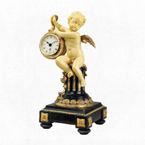 Chateau Colville Neoclassical Cherub Table Clock