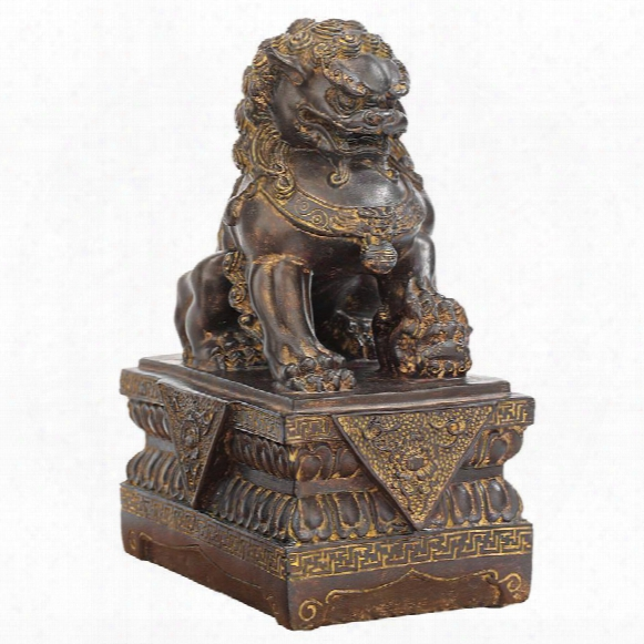 "Chinese Guardian Female Lion Foo Dog"" Statues"