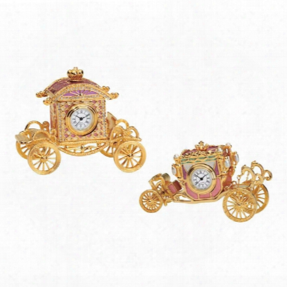 Collectible Carriages Clocks: Set Of Two