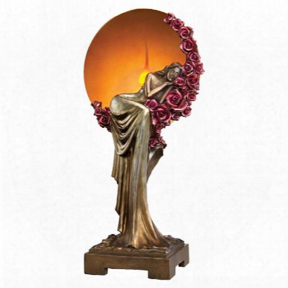 Elegant Slumber Art Deco Illuminated Sculpture
