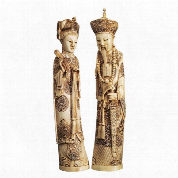 Emperor And Empress Sculptural Set