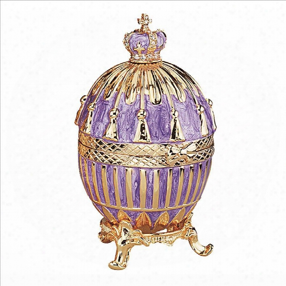 Faberge-style Tassel Enameled Egg