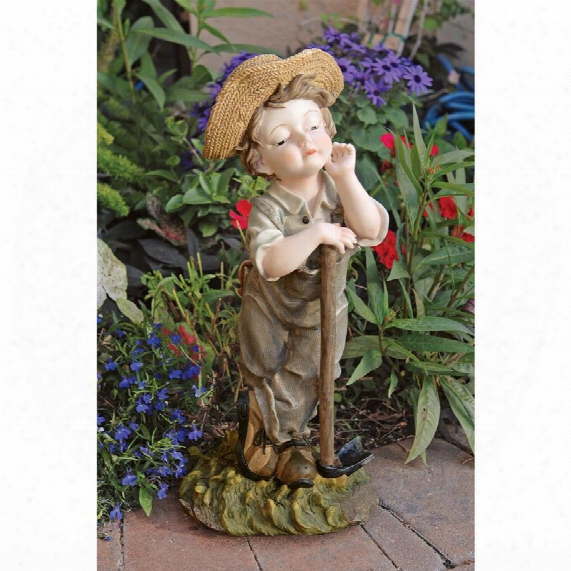 Farmer Frank Garden Statue
