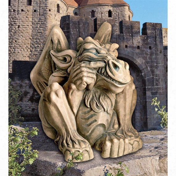Feast On Fools Gargoyle Statue: Giant