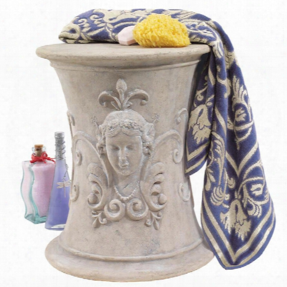 Flora, Goddess Of Spring Neoclassical French Spa Stool