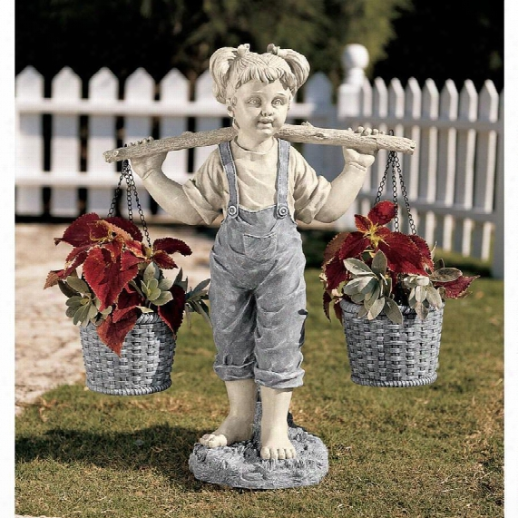 Flowers For Felicity Little Girl Garden Statue
