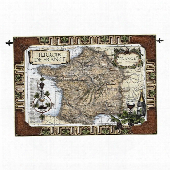 French Wine Country: Old World Map Wall Tapestry