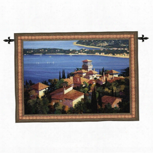 Garden On The Cote D'azur Wall Tapestry: Large