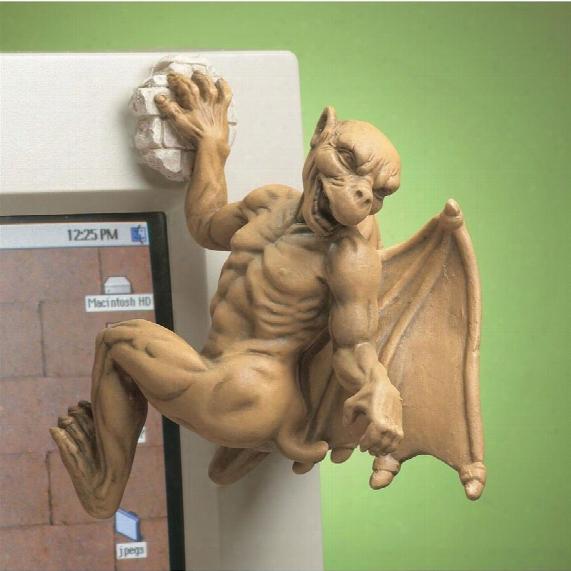 Gaston, The Gothic Gargoyle Computer Climber Statue