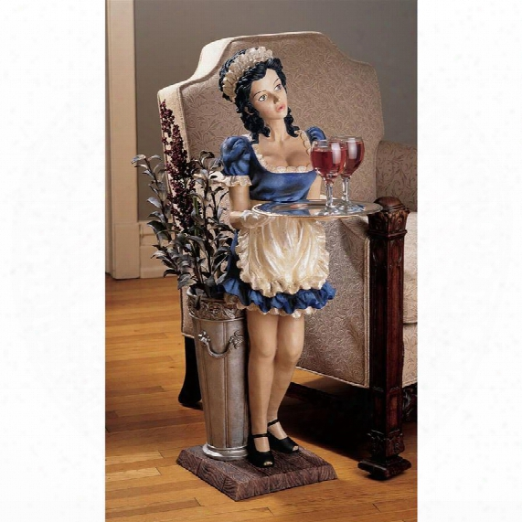 Genevieve, The Buxom French Maid Pedestal Sculptural Table