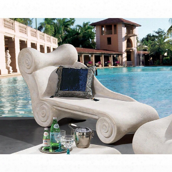 Hadrian's Villa Roman Spa Furniture Collection: Chaise Longue