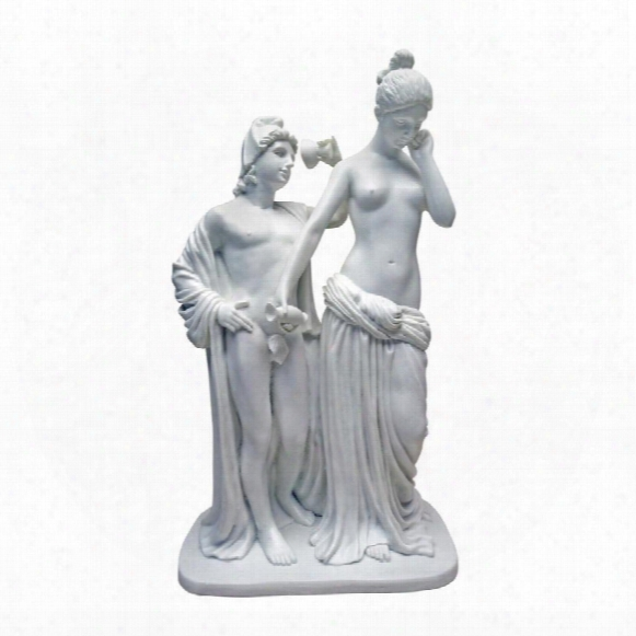 Hebe And Ganymede, 1851: Bonded Marble Resin Statue
