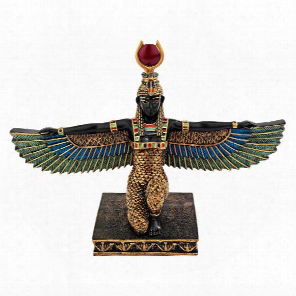 "Isis, Egyptian Goddess Of Beauty""statue"