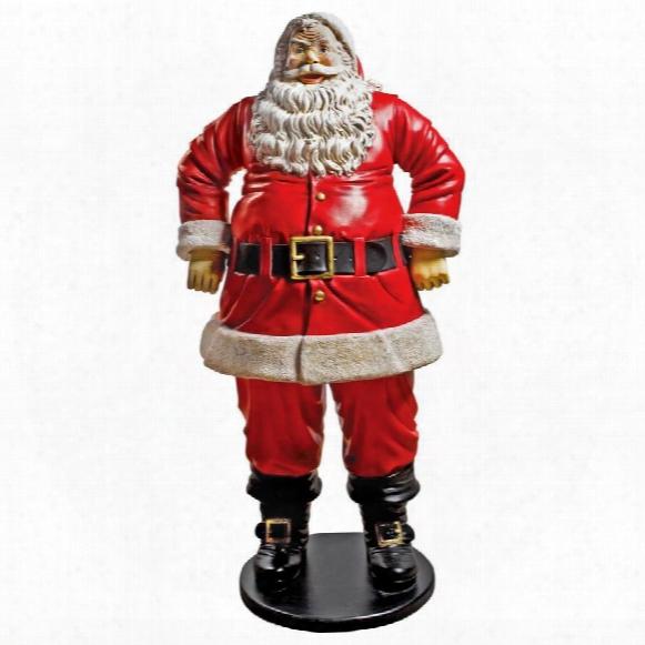 "Jolly Santa Claus"" Life-size Statue: Grande Scale"