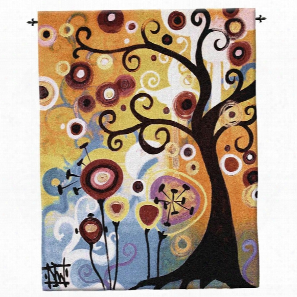 June Tree Contemporary Wall Tapestry: Large