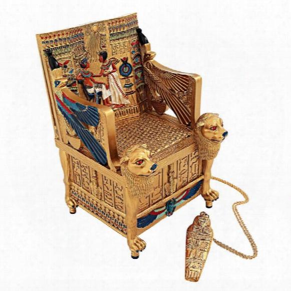 King Tut's Golden Throne Treasure Box