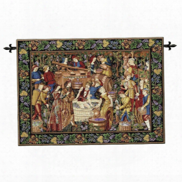La Vendanges Wall Tapestry