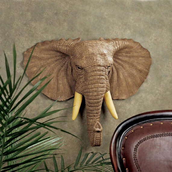 Lord Earl Houghton's Elephant Wall Sculpture