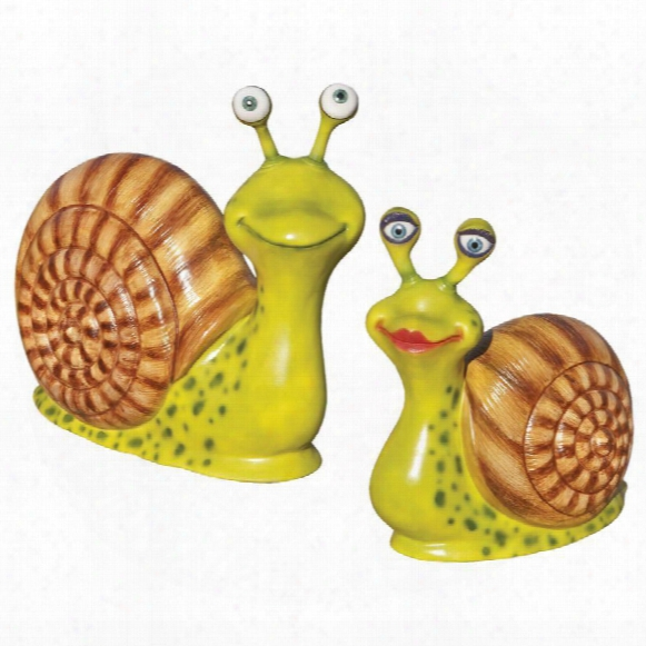 Madame & Monsieur Escargot, Enormous Garden Snail Statue Set