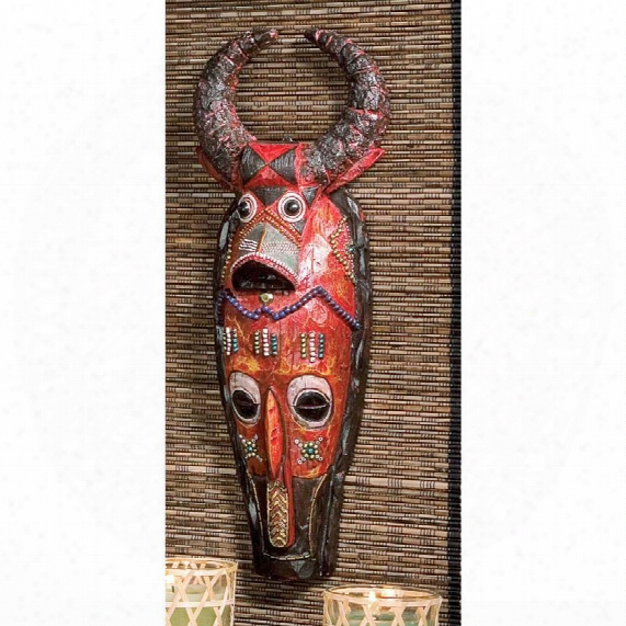 Masks Of The Congo Wall Sculptures: Cape Buffalo