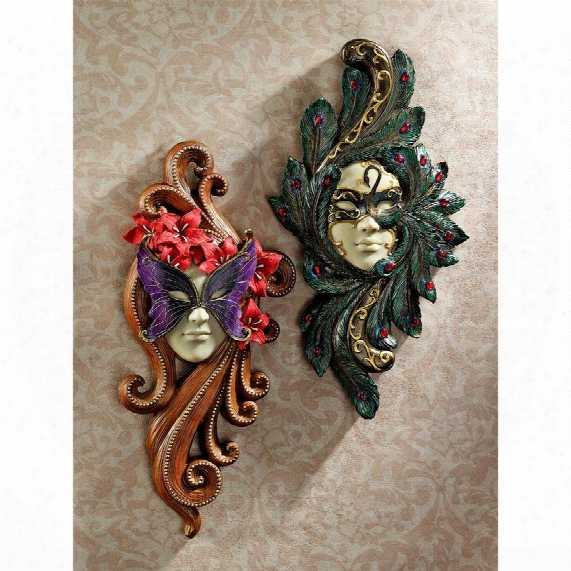 Masquerade At Carnivale Wall Masks: Countess Alessandria & Countess Barletta