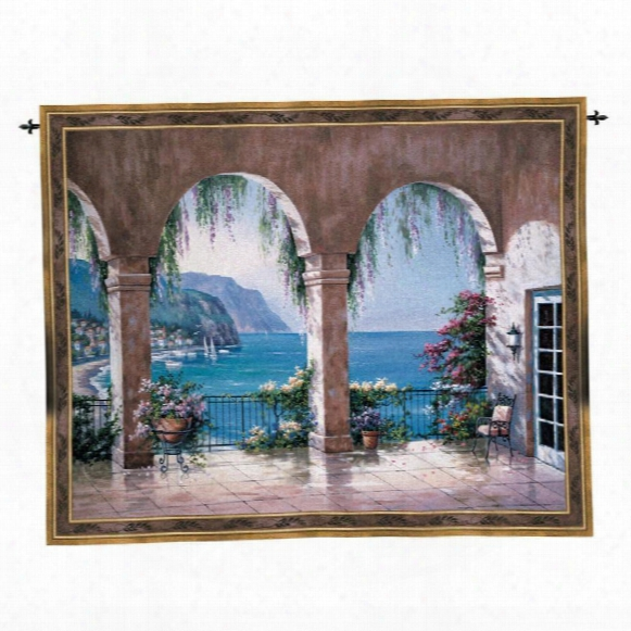 Mediterranean Arches Landscape Wall Tapestry