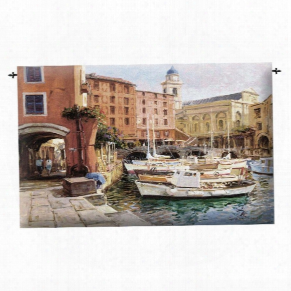 Mediterranean Colors Landscape Wall Tapestry
