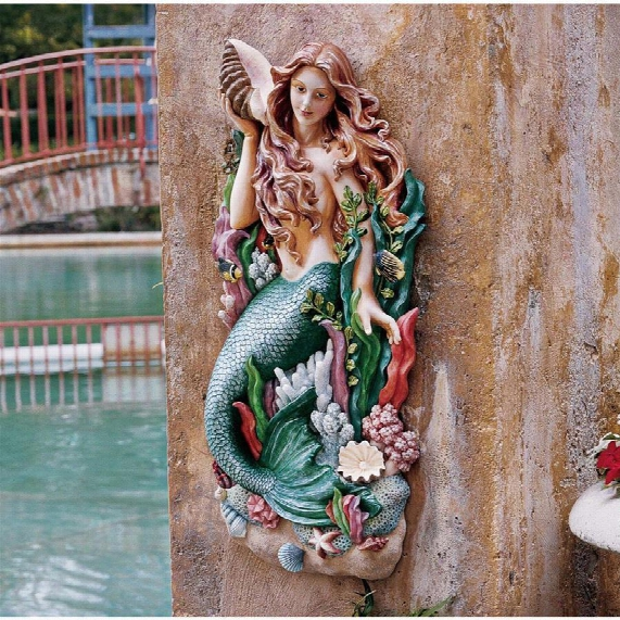 Melody's Cove Mermaid Wall Sculpture