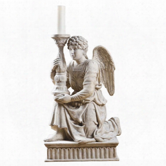 Miche Langelo's Kneeling Angel With Candlestick Statue