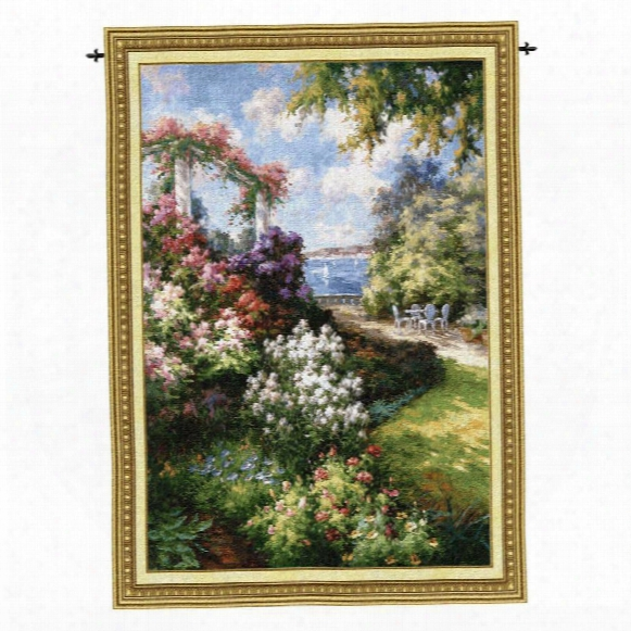 Morning Retreat Landscape Wall Tapestry