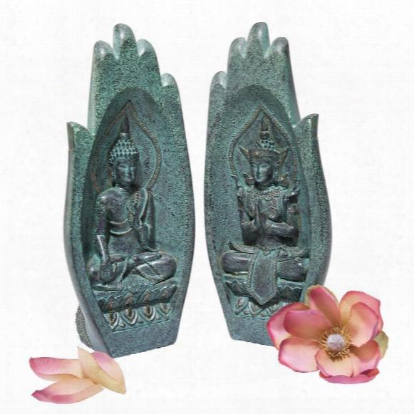 """Namaskara Mudra Buddha Hands"""" Statue"""