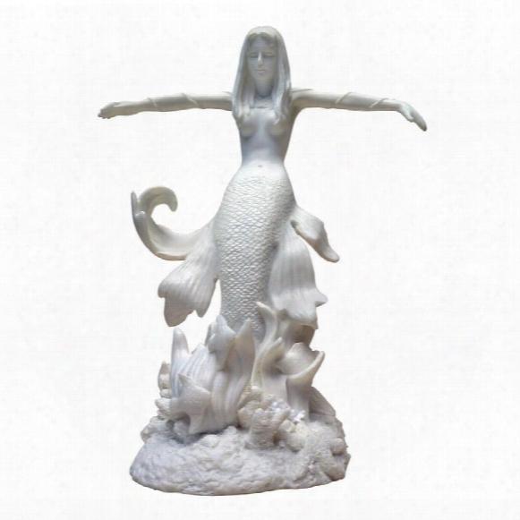 Ocean's Queen Mermaid: Bonded Marble Resin Statue