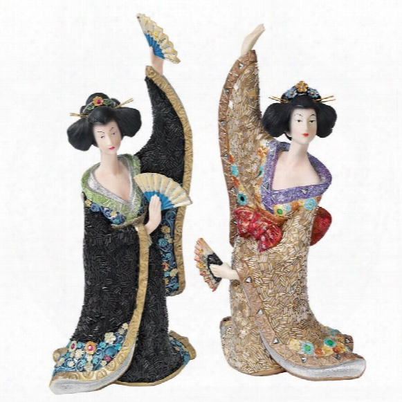 Odoriko Geisha Asian Statue Collection: Bachiko & Aiko