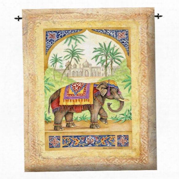Old World Elephant I Wall Tapestry