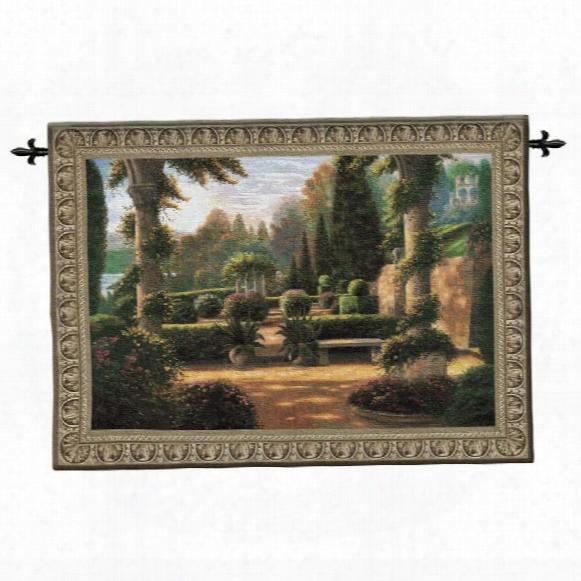 Parterre De La Vierge Landscape Wall Tapestry: Large